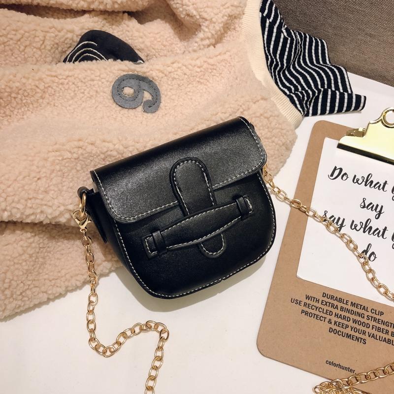 ◇✔ↂGirls Bag 2019 new children's slant girl one shoulder fashion princess hundred set up retro small square