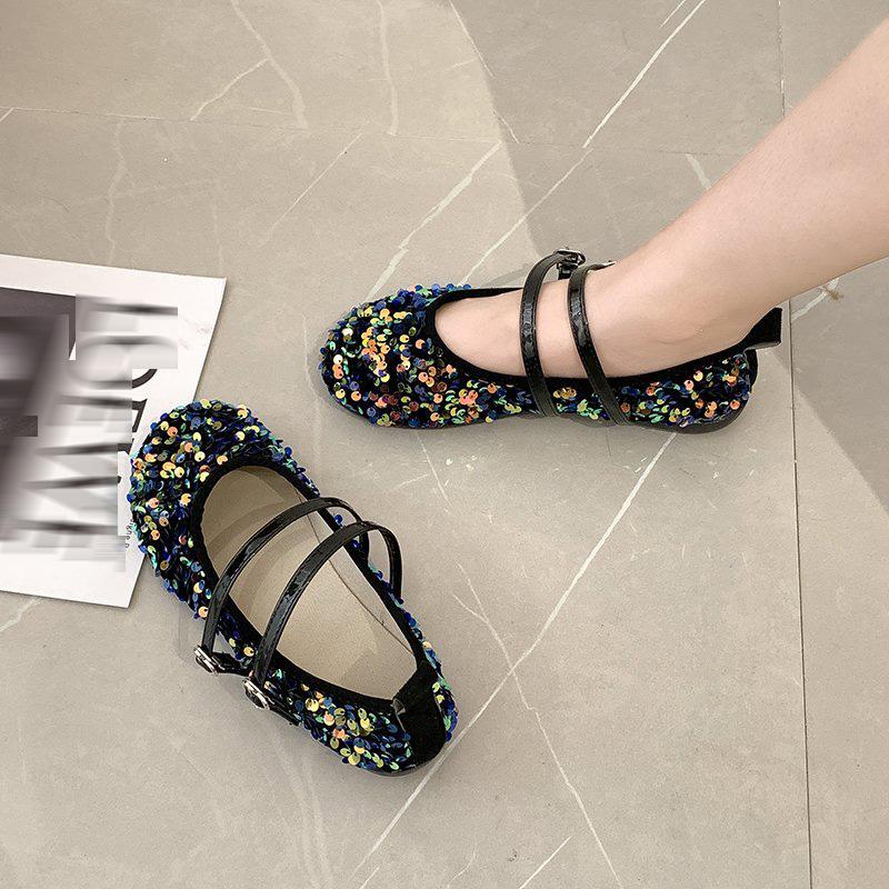 Giày Búp Bê Đế Bệt Mũi Tròn Đáng Yêu Cho Bạn Gái