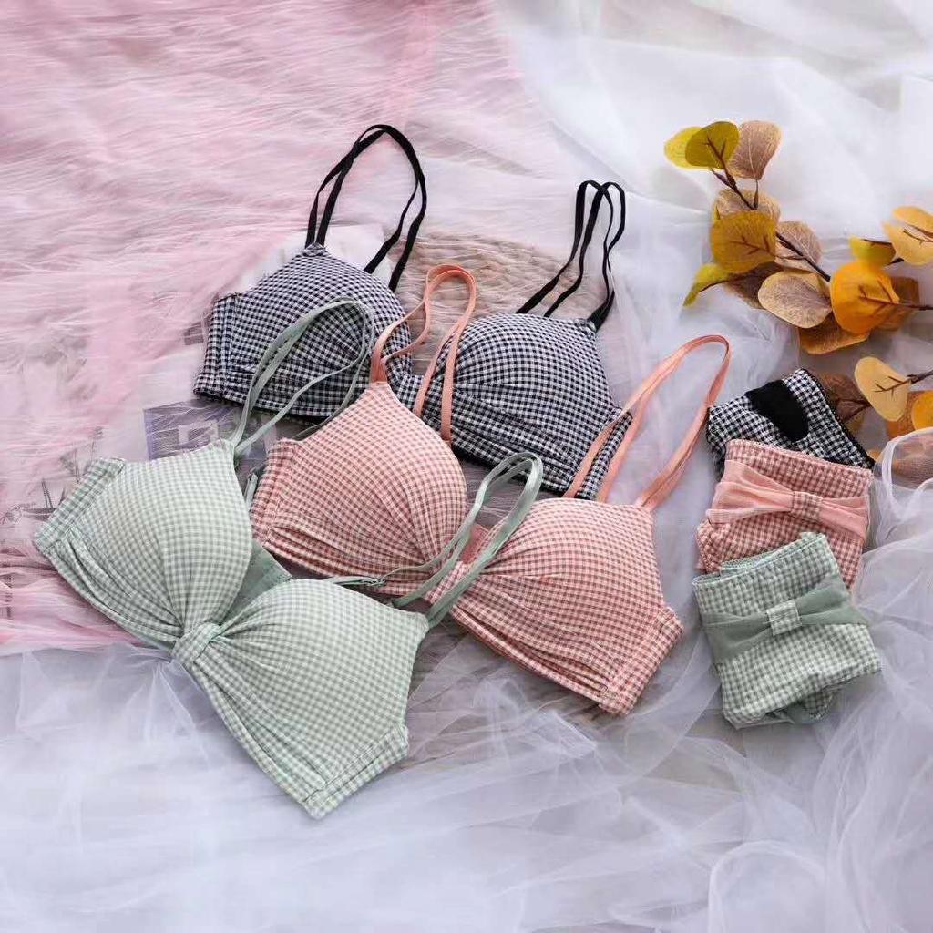 Áo ngực không gọng có thể điều chỉnh họa tiết kẻ sọc chất liệu thoải mái cho nữ