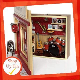 HCM- HOT- Mô hình nhà gỗ tự ráp Shop nhạc cụ Rock time