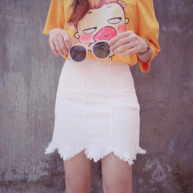 Chân váy ngắn 8 mảnh lưng cao thời trang quyến rũ