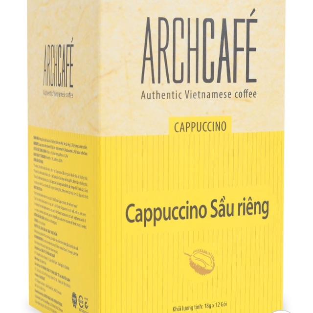 Cà Phê Hòa Tan Cappuccino Sầu Riêng Archcafe 12 gói*18g