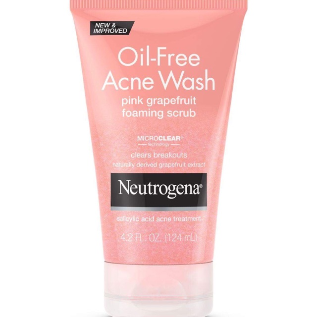 Sữa rửa mặt Neutrogena Oil Free Acne Wash Pink Grapefruit Scrub 124ml