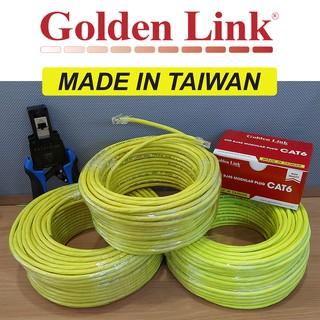 (Đài Loan) Cáp mạng GoldenLink Taiwan CAT6 10Gbps Gigabit WAN LAN BootRom CCTV Camera PoE Golden Link dài 10m đến 50m thumbnail