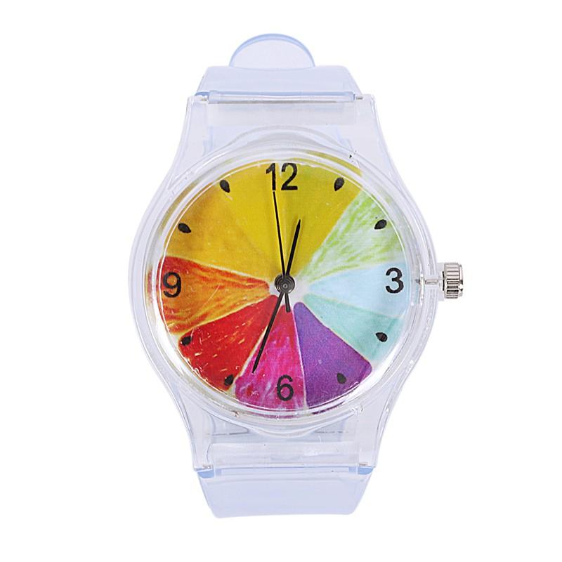 VN  Shopping Women Wrist Watches Plastic Clock Transparent StraQuartz Watch