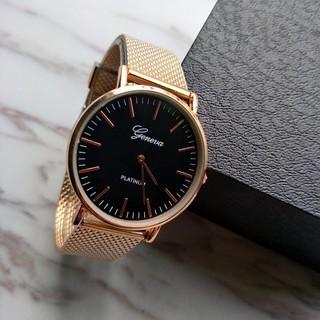 Đồng hồ Geneva dây lưới nam NE28