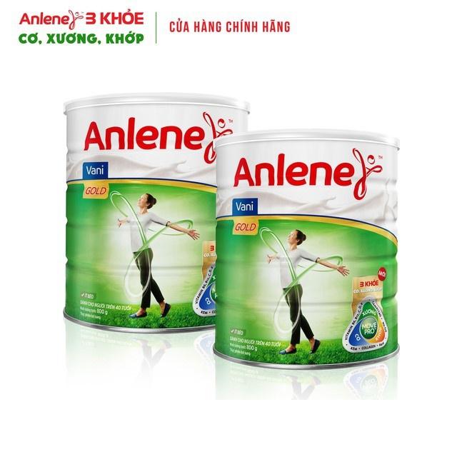 [Mã 2005GIAMGIA giảm 8%] Combo 2 lon Sữa Bột Anlene Gold Movepro Hương Vanilla 800g/hộp (trên 40 tuổi)