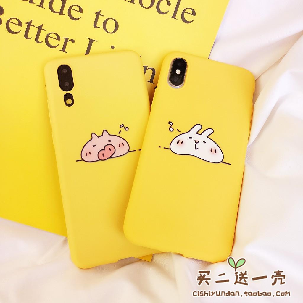 Ốp điện thoại silicon in hình heo/thỏ cho Huawei p9/Glory 8/P20pro glory 10