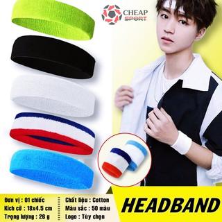 Băng Đô Thể Thao Headband Thấm Chặn Mồ Hôi Băng Trán Nam Nữ Tập Gym Bóng Chuyền Bóng Rổ Tennis Cầu lông Chạy Bộ Bóng Đá