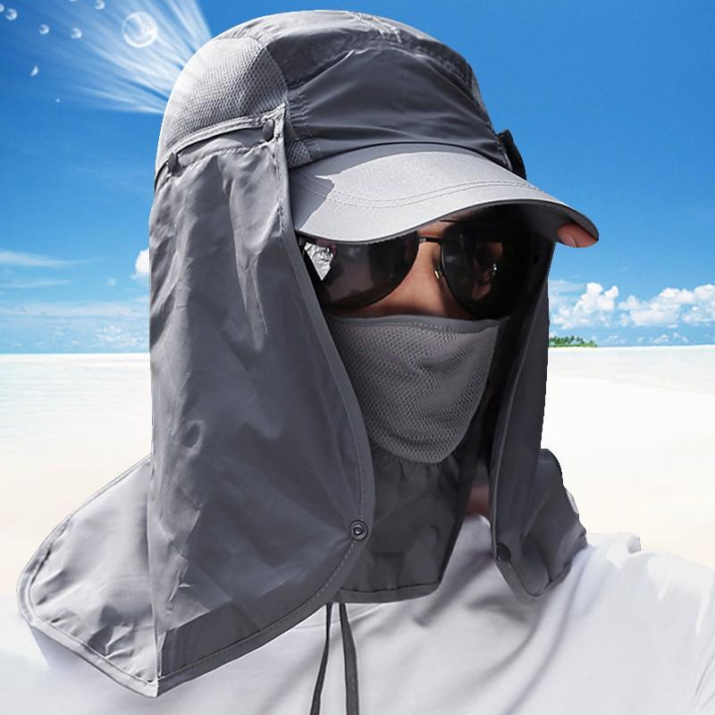 Nón tích hợp khẩu trang chống nắng tiện dụng khi đi câu cá