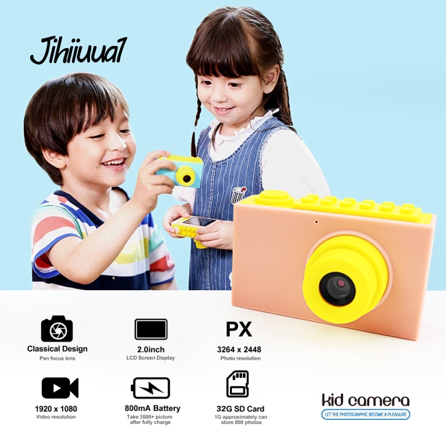 Mini Digital Photo Camera Educational Toy for Toddler Kids