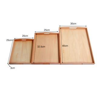 Giáo cụ Montessori - Khay gỗ Mon nhiều kích cỡ - 3 kích thước thumbnail