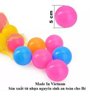 Bóng Nhựa 50 Trái – An Toàn Làm Từ Nhựa Nguyên Sinh (Made In Vietnam)