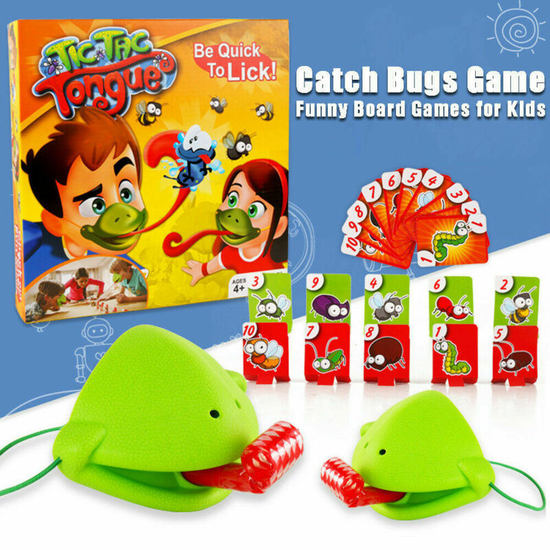 Frog mouth Take Card Tongue Tic-Tac Chameleon Tongue Funny Board Game For Family Party Toy Be Quick To Lick Cards...