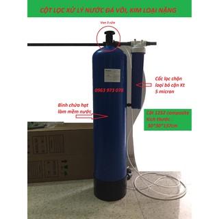 Cột lọc composite 1252 xử lý nước đá vôi, kim loại nặng