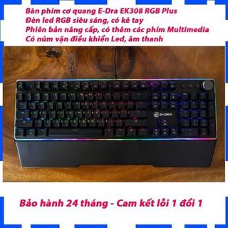 Bàn phím cơ quang E-Dra EK308 RGB Plus (USB Optical switch Đen) - Phiên bản nâng cấp, có thêm các phím Multimedia thumbnail