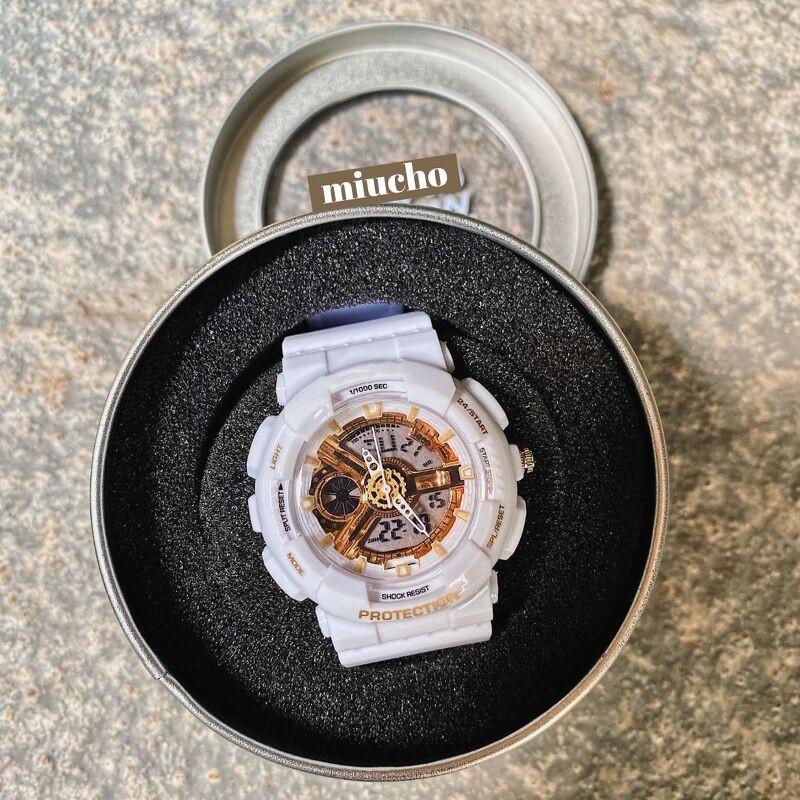 [Mã FADI5K245 giảm 5K cho đơn 0đ] Đồng hồ nữ thể thao dây cao su chống nước DH169 Miucho