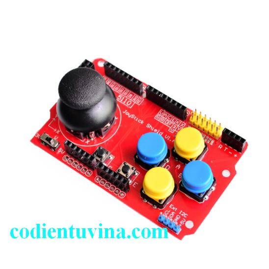 Mạch Arduino Joystick Shield (4 nút nhấn + 1 Joytick)