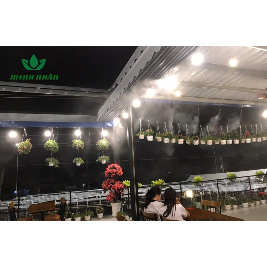 Trọn bộ phun sương 150 béc phun làm mát quán ăn, làm mát quán cà phê làm mát nhà xưởng, chuồng trại