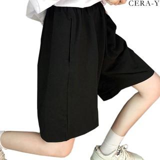 Quần short ống rộng CERA-Y màu đen CRQ014 thumbnail