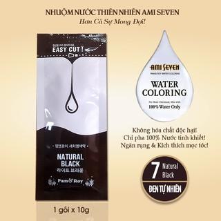 Nhuộm Nước Thiên Nhiên Ami Seven - REFILL 7 Natural Black. CHỈ PHA 100% VỚI NƯỚC- dạng gói lẻ 10g - Không phụ kiện. thumbnail