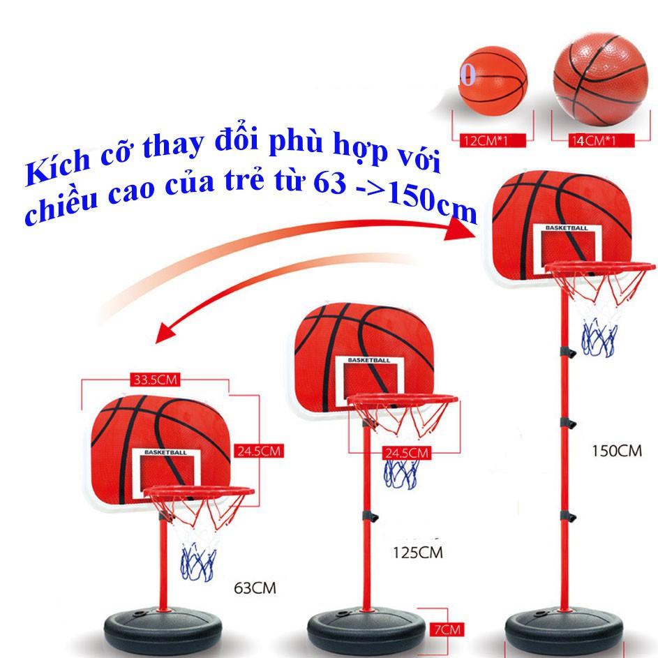Bộ trụ bóng rố kéo dài 144cm, có bóng và bơm | Shopee Việt Nam