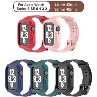Dây Đồng Hồ Bằng Silicone Tpu Cho Apple Watch Series 6 Se 5 4 3 38mm 40mm 42mm 44mm