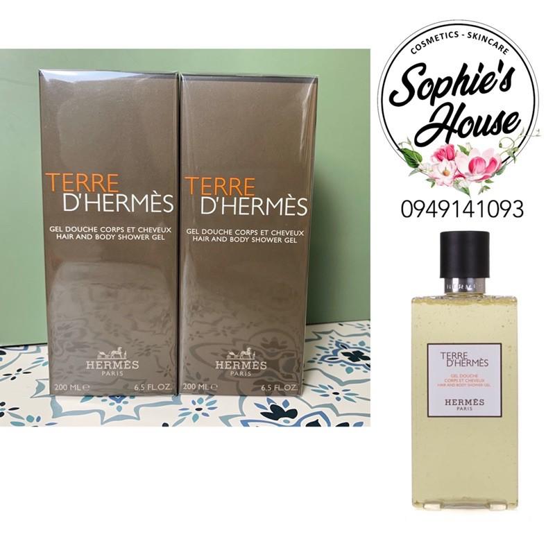 Sữa tắm và gội nam Terre DHermes Hair and Body Shower Gel 200ml