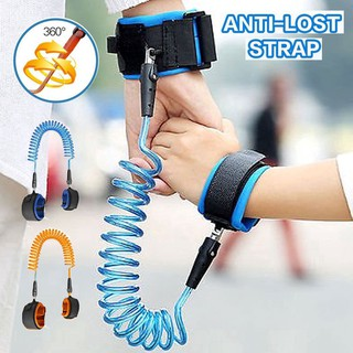 Dây đeo cổ tay thiết kế lò xo dài 2.5m 1.5m chống đi lạc an toàn cho bé thumbnail