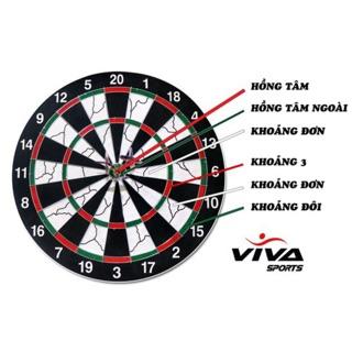 Bảng Phóng Phi Tiêu 17 inch – Vivasport – Tặng 6 Mũi Tiêu Anh Mỹ Cao Cấp
