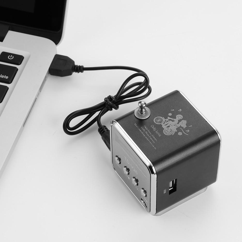 Loa Mini Tdv26 Mp3 Hỗ Trợ Thẻ Tf / Usb / Đài Fm