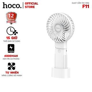 Quạt cầm tay Hoco F11 mini kèm pin dự phòng 4000mah