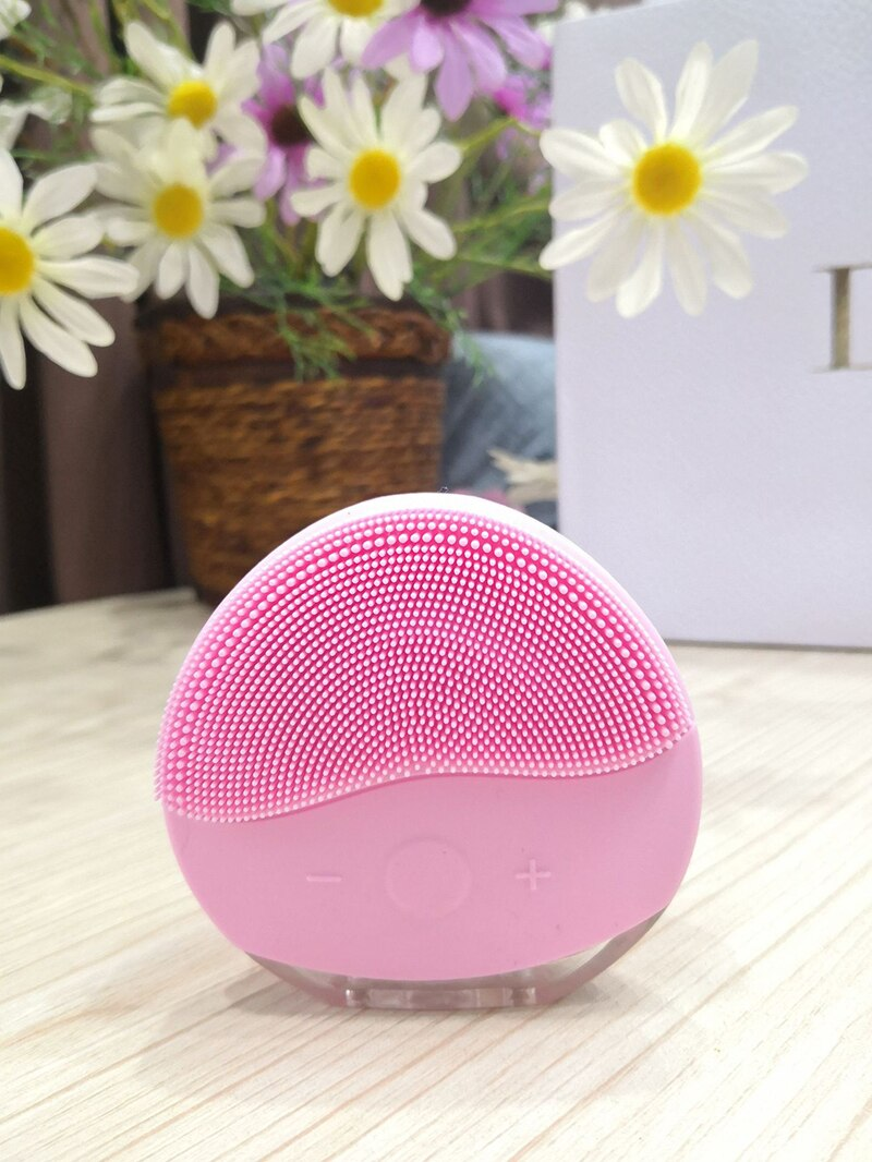 Electric Mini Facial Cleansing Massager Brush For Wash Face Cleanser Machine Deep Clean Silicone Cleaner  Massage USB Charging