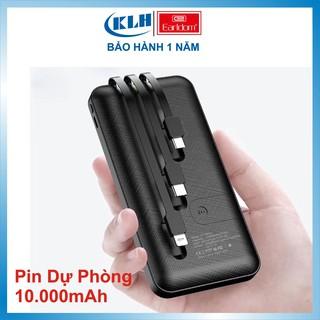 Pin sạc dự phòng 10.000 mAh, sạc đa năng tích điện kèm dây sạc Earldom PB41 KLH