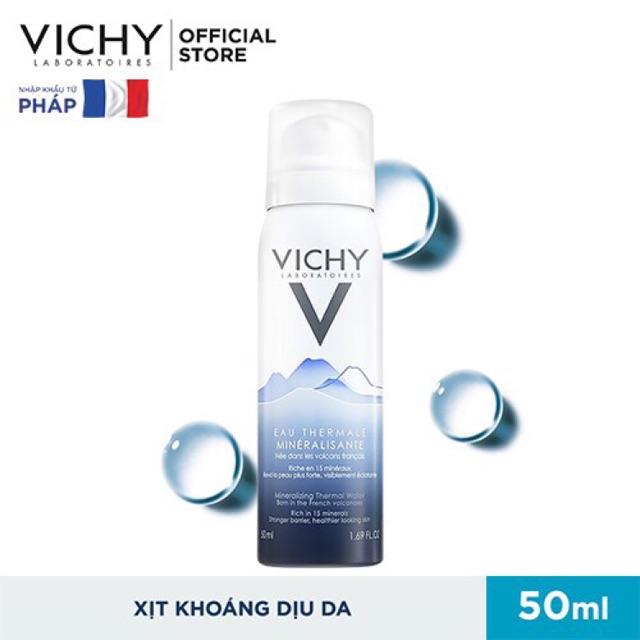 Nước xịt khoáng Vichy Mineralizing Thermal 50ml