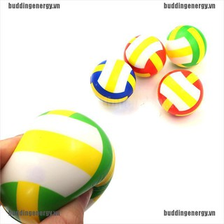 {buddi} 1PC Stress Relief Vent Ball Mini Volleyball Squeeze Foam Ball Kids Outdoor Toy{LJ}