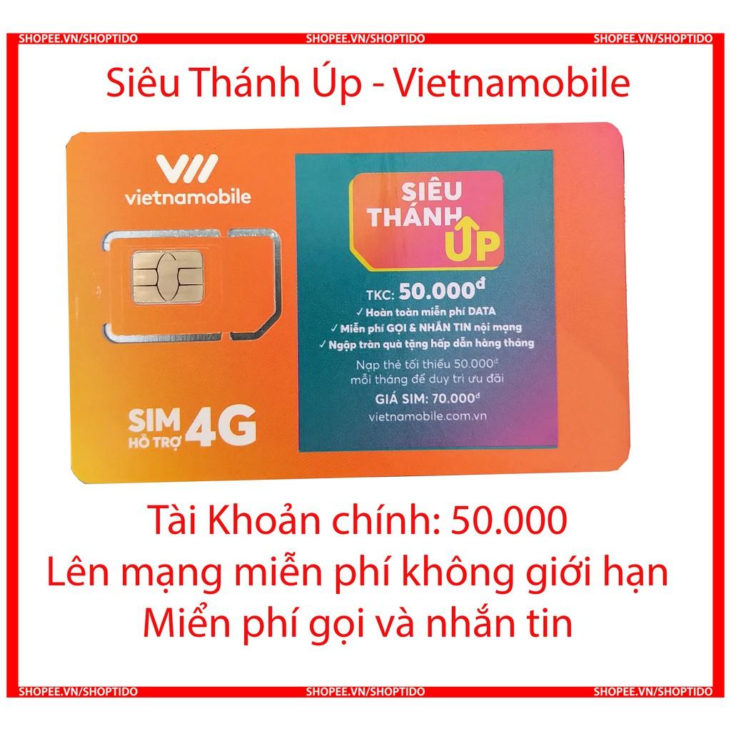 Sim Vietnamobile gói cước siêu thánh sim Up