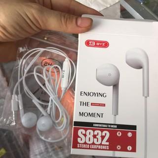 Tai Nghe ⚡CHÍNH HÃNG⚡ tai nghe nhét tai BYZ S832 hang nội địa được ưa chuộng và các ban trẻ tin dùng