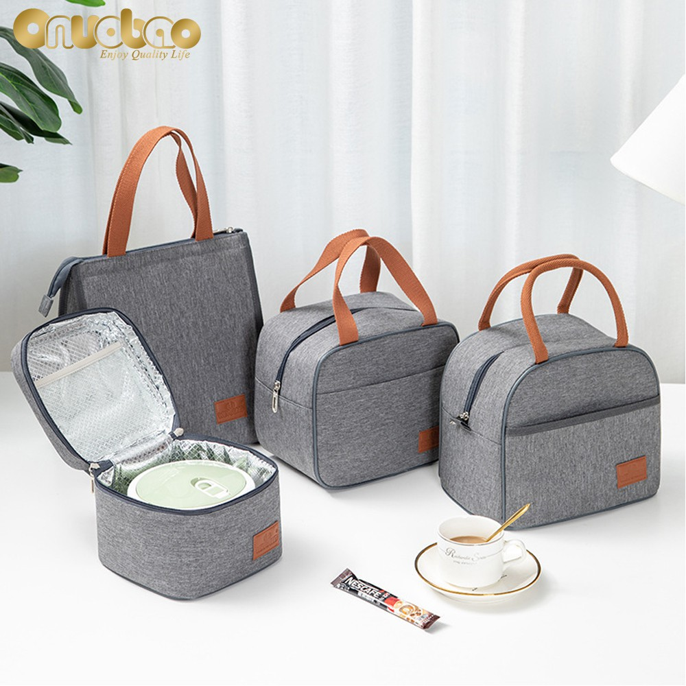 Túi đựng hộp cơm cách nhiệt phong cách Hàn Quốc