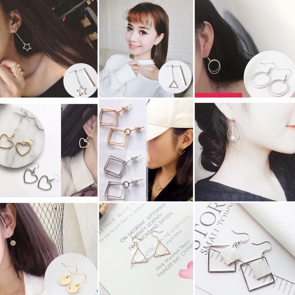 💝BST khuyên tai, bông tai hình học phong cách trẻ trung 20 mẫu hot