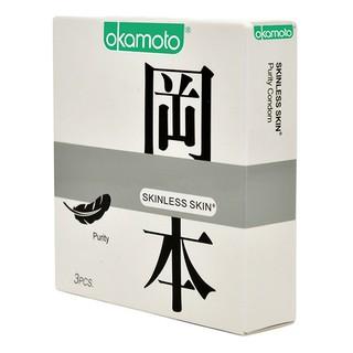 Bao Cao Su Siêu Mỏng Tinh Khiết Okamoto Purity Skinless Nhật Bản (Hộp 10C, hộp 3C) 4