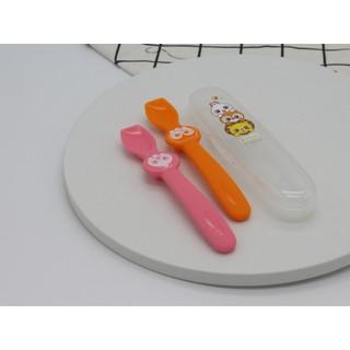 Đồ dùng ăn dặm cho bé MADE IN KOREA Set 2 thìa silicone cho bé ăn dặm Edison set hình Cú, Sư tử và Set hình Thỏ, Cú