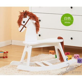 Export of original single wood children rocking horse Trojan Baby rocking chair