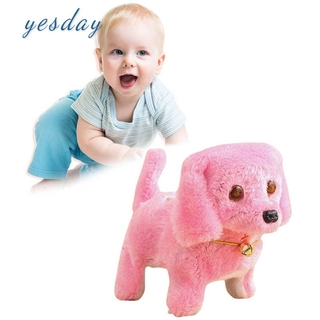 COD Children Plush Electronic Dog Toy Robot Pets Walking Dog Toys Gift for Kids Birthday YD