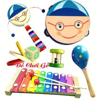 Đồ Chơi Gỗ – Combo đồ chơi nhạc cụ cho bé