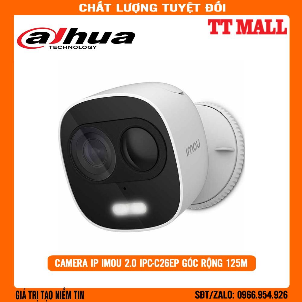 Camera Dahua IMOU góc rộng 125m  IPC-C26EP 2M 1080P Full HD - Tích hợp còi báo động an ninh - Tặng kèm thẻ nhớ tùy chọn