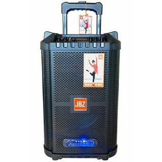 Loa kéo mini JBZ JB-0806, loa karaoke 2.5 tấc kèm 2 mic