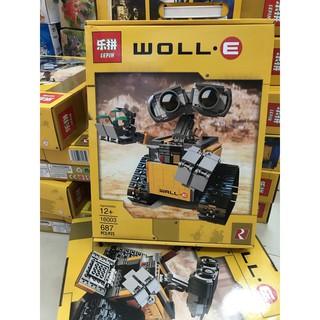 (Bao giá) Lepin 16003 Lele 39023 WALL-E Xếp hình rô bốt Wall-E 687 chi tiết.
