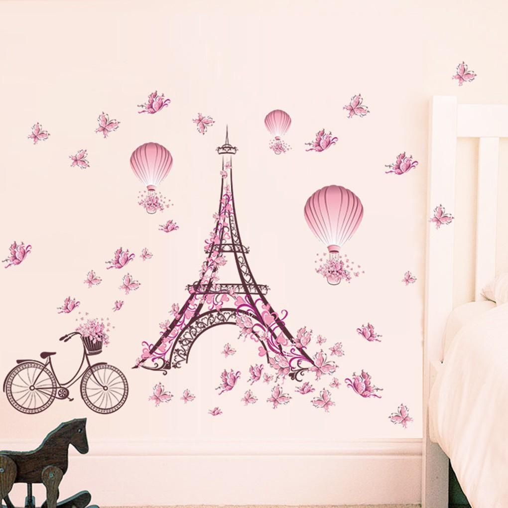 Decal trang trí phòng ngủ trẻ em hình tháp Eiffel