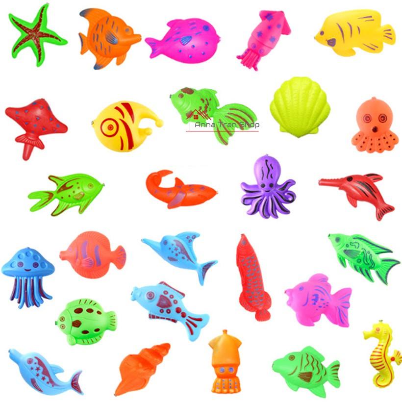 Bộ 100 loại hải sản cho bé chơi câu cá và trong nhà tắm